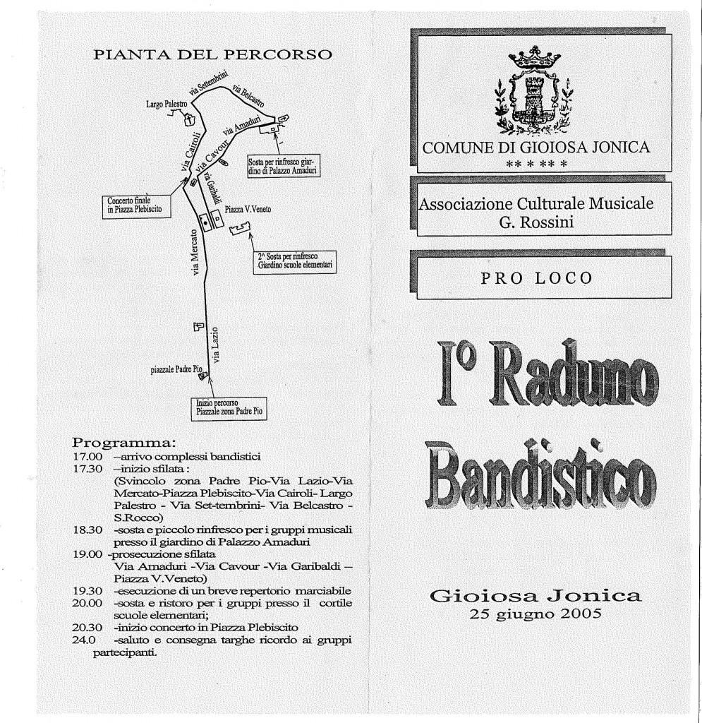 1° Raduno Bandistico di Gioiosa Jonica - anno 2004