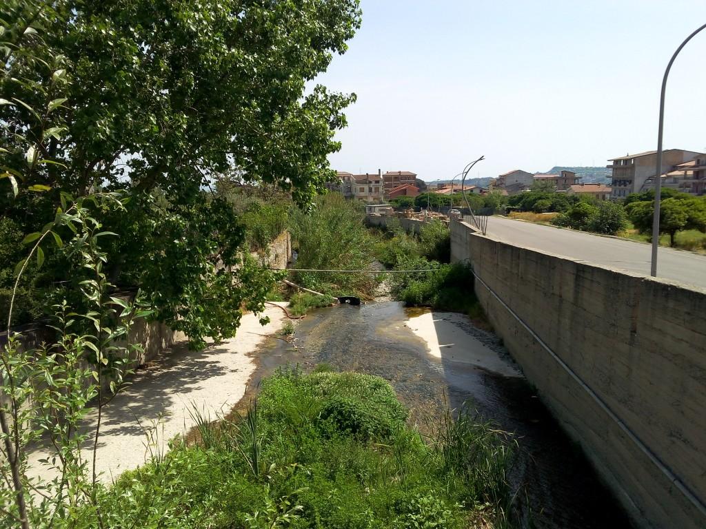Fiumara Gallizzi zona Via Diaz - situazione precedente