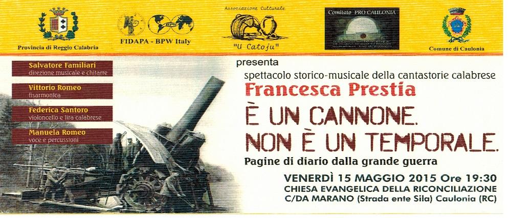 Spettacolo storico-musicale a Caulonia