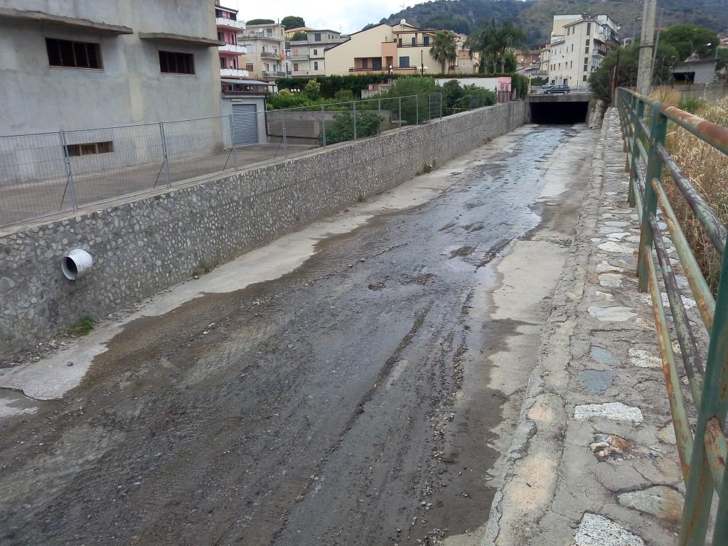 Fiumara Gallizzi zona Via Diaz - situazione attuale