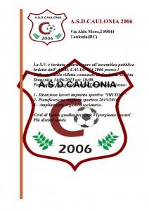 Invito assemblea A.S.D. Caulonia 2006