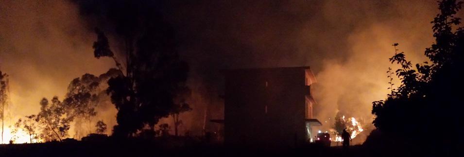Caulonia: incendio ad Amusa. Le foto