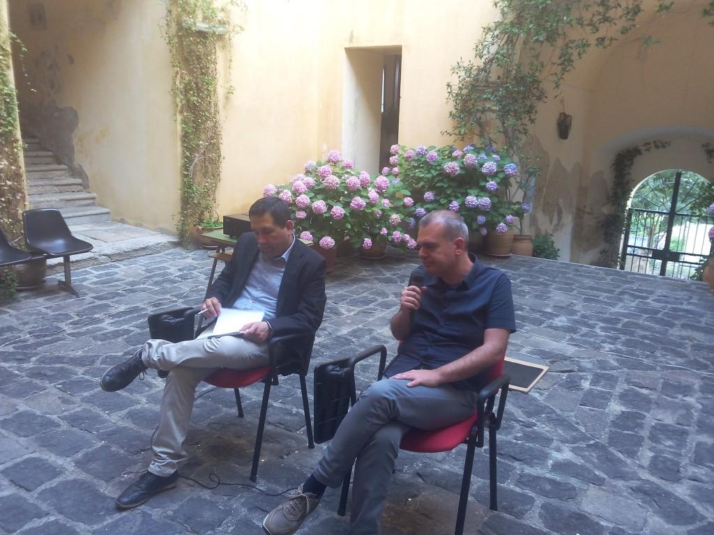 L'autore Alessandro De Virgilio con l'Avv. Pasquale Zavaglia
