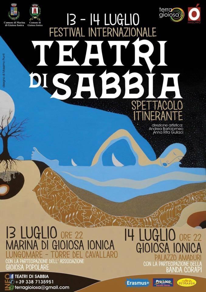 """La locandina con gli eventi conclusivi di """"Teatri di sabbia"""""""