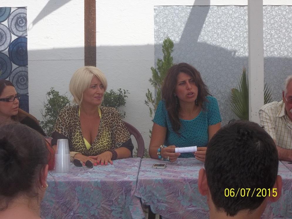 Simona Coluccio, Presidente di Comma 3 e Federica Roccisano, Assessore Regionale