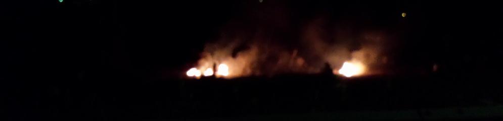 Incendio in corso tra Caulonia marina e Focà