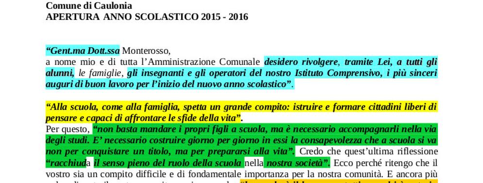 """Il """"copia e incolla"""" del sindaco Giovanni Riccio"""