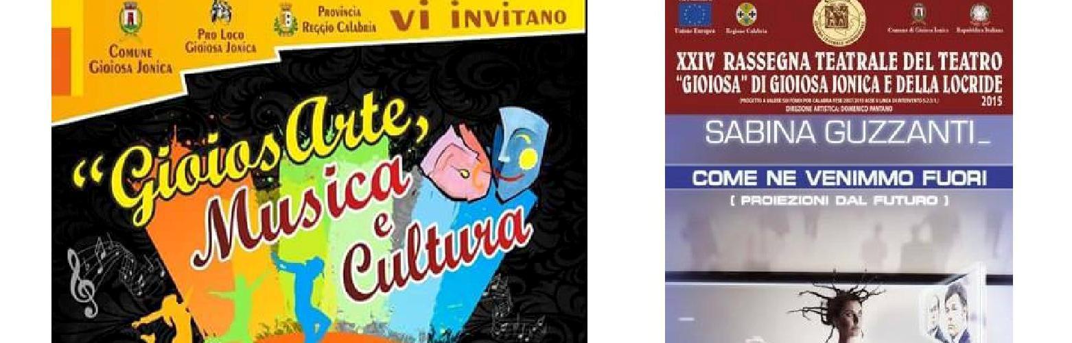 """""""GioiosArte"""" e Sabina Guzzanti per il 24 Ottobre a Gioiosa"""
