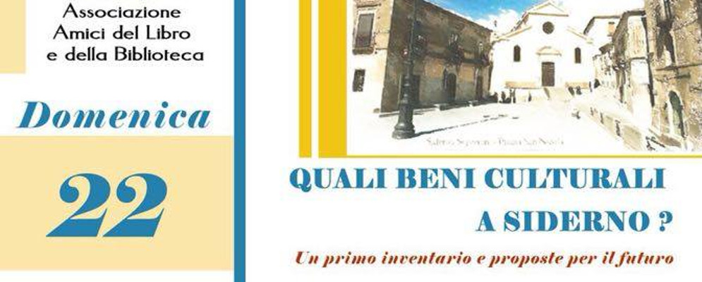 Domenica a Siderno Superiore per parlare di beni culturali