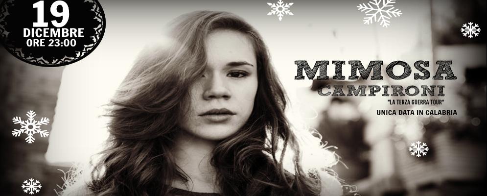Sabato all'Ombligo l'attrice e musicista Mimosa Campironi