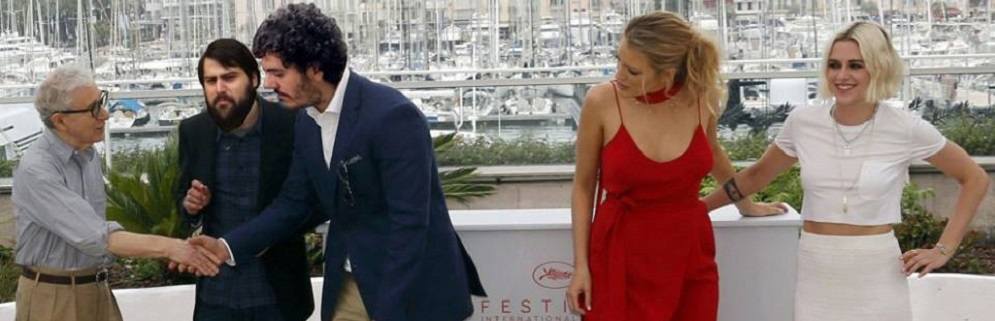 Vincenzo Caricari ed il webmaster di Ciavula a Cannes insieme a Woody Allen