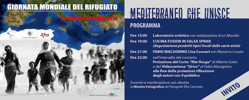 """MEDITERRANEO CHE UNISCE"", Giornata Mondiale del Rifugiato a Stignano"