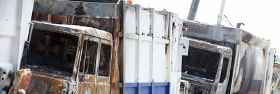 Rosarno: incendiati 9 mezzi per rifiuti