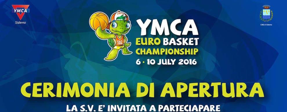 La Cerimonia di apertura Europei di Basket all'YMCA di Siderno