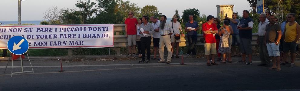 Manifestazione per il ponte sull'Allaro – il video del corteo