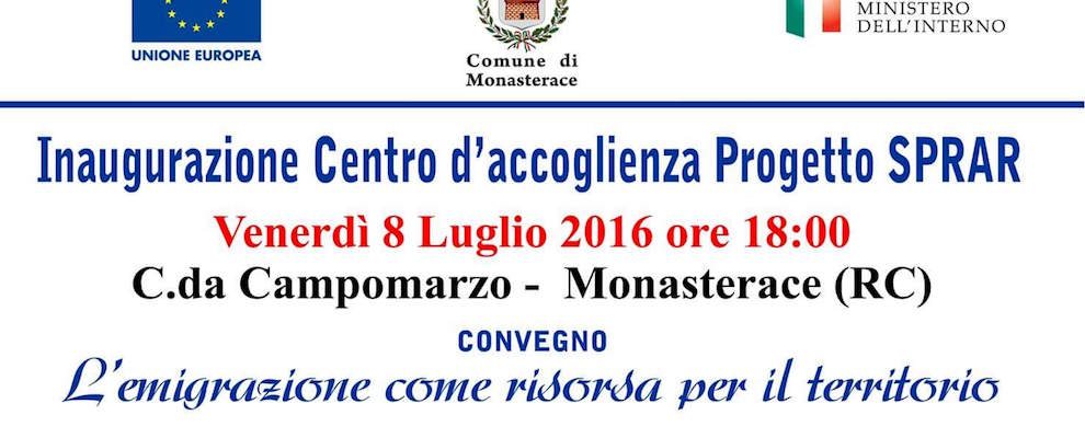 Monasterace: inaugurazione del centro d'accoglienza Progetto SPRAR