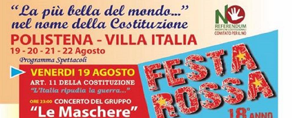 Dal 19 al 22 agosto FESTA ROSSA a Polistena