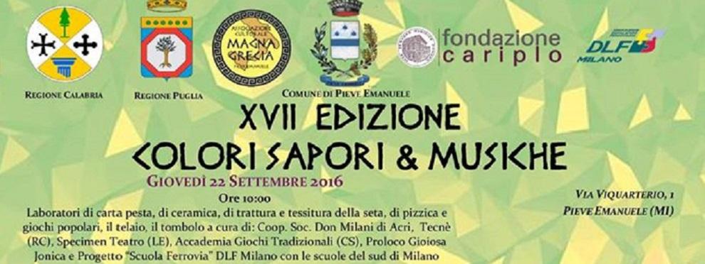 """Pro Loco Gioiosa Jonica al festival """"Colori, sapori e musiche"""" di Pieve Emanuele"""