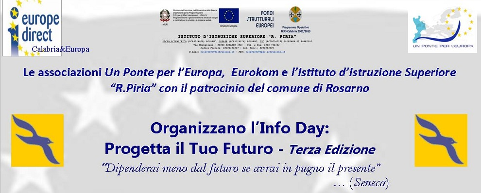 """Al Piria di Rosarno Info Day """"Progetta il tuo futuro"""""""
