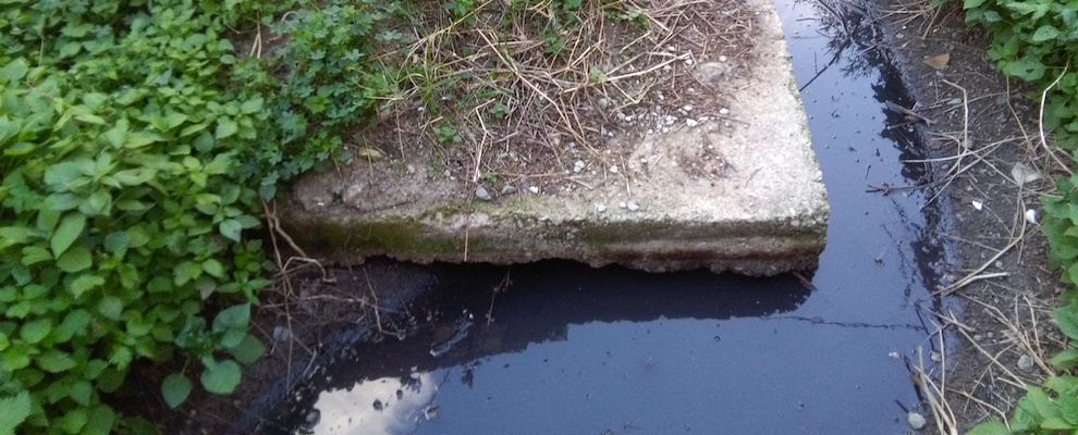 Caulonia: Fogna e rifiuti in una proprietà privata