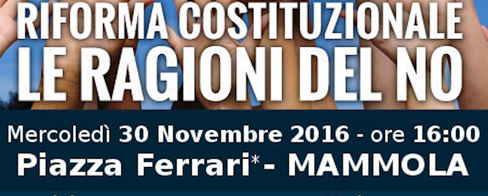 """Mammola, domani incontro Movimento 5 Stelle """"LE RAGIONI DEL NO"""""""