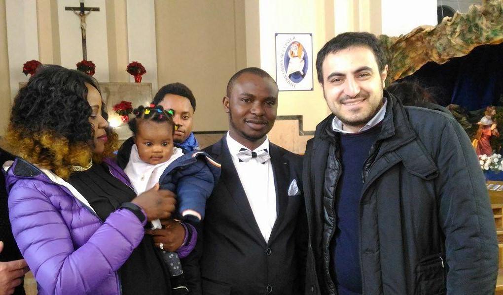 Il battesimo della piccola nigeriana ospite di ReCoSol