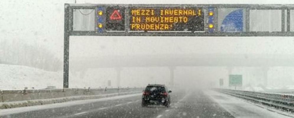 Da domani previste nevicate sulla Calabria