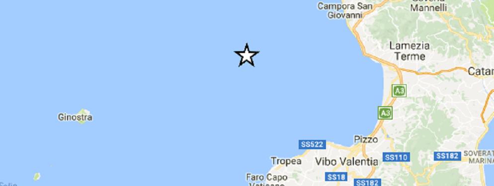 Calabria, Terremoto di magnitudo 3.1