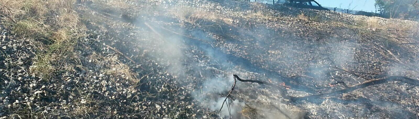 Caulonia,incendio in contrada Aguglia