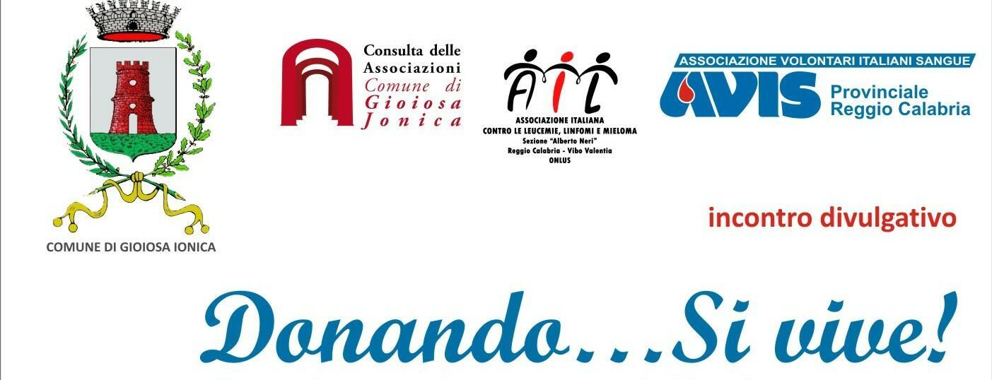 A Gioiosa Ionica appuntamento informativo su donazione cellule staminali e sangue