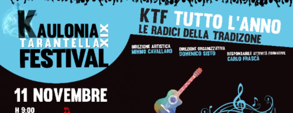 Venerdì il terzo appuntamento con il Kaulonia Tarantella Festival Tutto l'anno