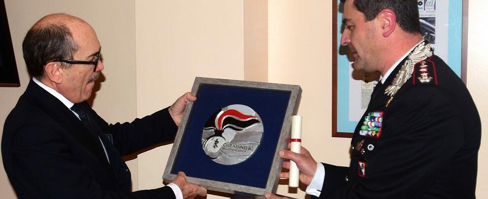Il saluto al Procuratore Nazionale Antimafia De Raho del Comando Provinciale dei Carabinieri