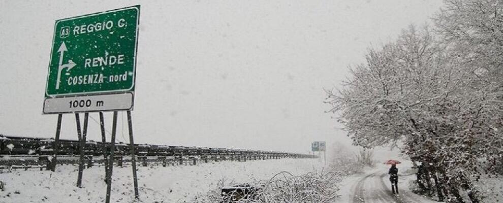 Domani previste nevicate a bassa quota
