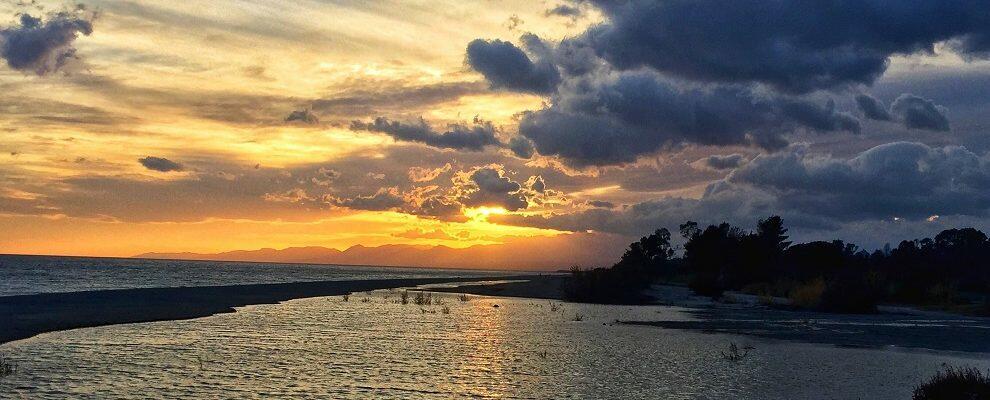 La meraviglia del tramonto a Caulonia