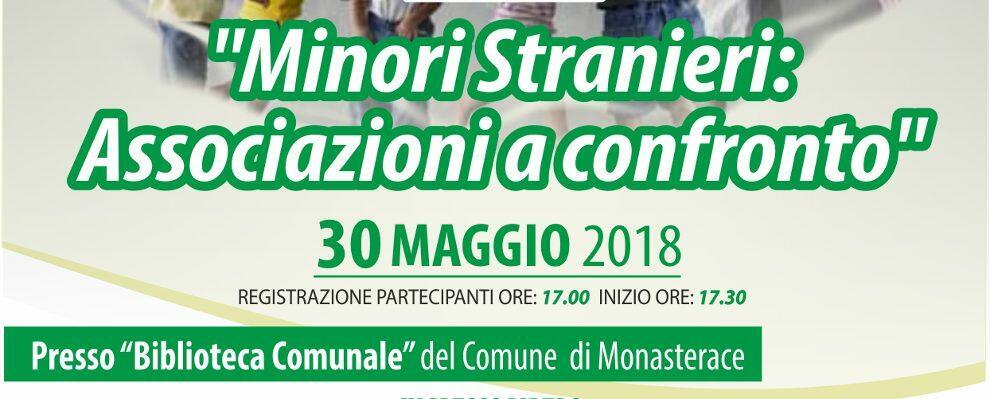"""Monasterace, il 30 maggio convegno """"Minori Stranieri: Associazioni a Confronto"""""""