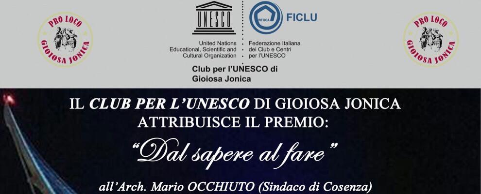 Gioiosa Ionica,  premiazione eccellenze calabresi il 22 giugno a Palazzo Amaduri