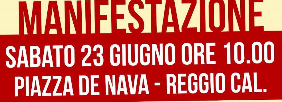 Ciavula tra i promotori della manifestazione di Reggio Calabria contro la guerra tra poveri e per i diritti