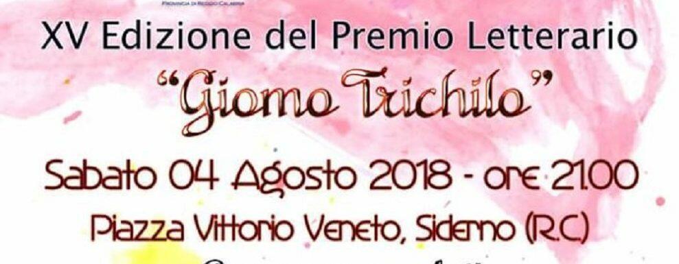 """Siderno, il 4 agosto la XV edizione del Premio letterario """"Giomo-Trichilo"""""""