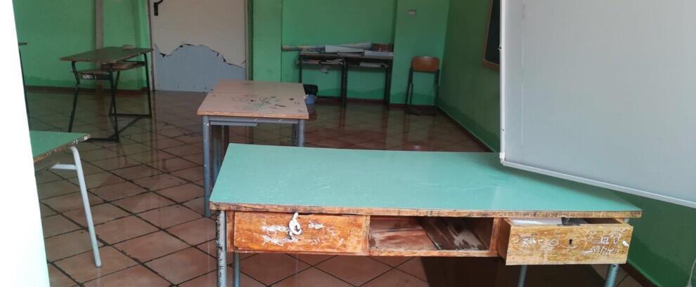 Esclusiva Ciavula: allagata la scuola media di Marina di Gioiosa – foto