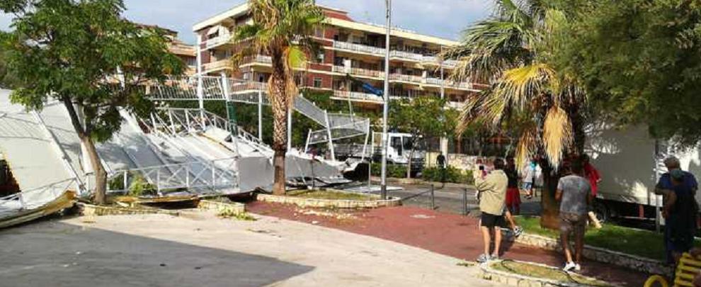 Tromba d'aria nella notte in Calabria, numerosi danni agli stabilimenti balneari