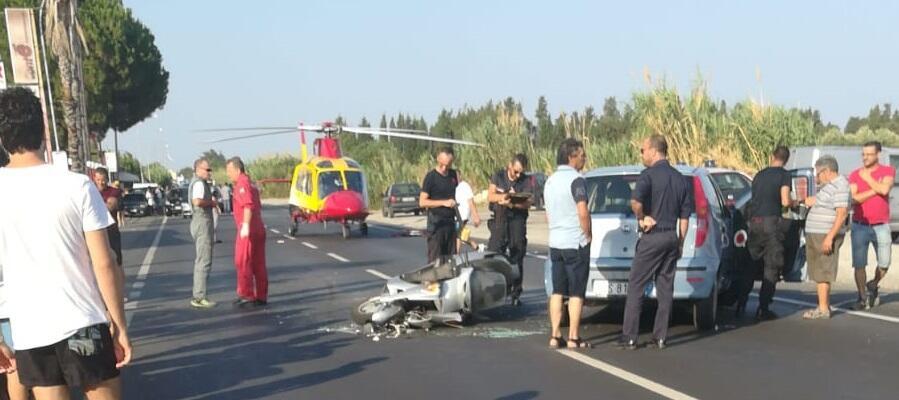 Gravissimo incidente stradale a Caulonia marina. In azione l'elisoccorso