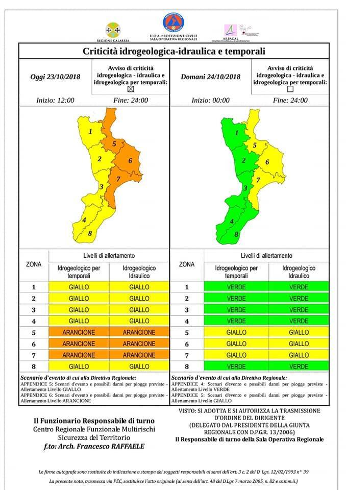 Continua il maltempo in Calabria, lanciata l'allerta meteo ...