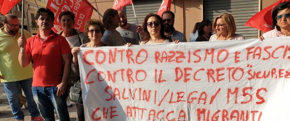 Palermo, presidio in Prefettura a sostegno del sindaco Lucano