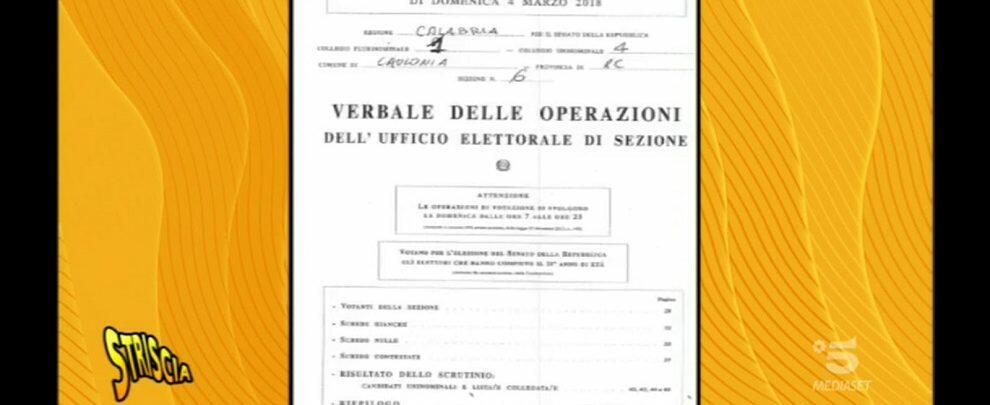 Caulonia finisce ancora a Striscia la Notizia. I voti dei cauloniesi a Forza Italia e agli altri partiti di destra sono invece stati attribuiti a Salvini!