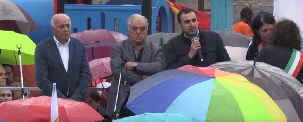 Solidarietà dei sindaci della Locride e di Cerveteri a Riace – video