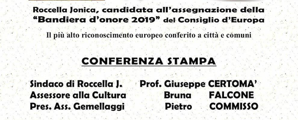 """Roccella Jonica si candida alla """"Bandiera d'onore 2019"""" del Consiglio d'Europa"""