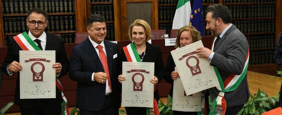 Caulonia tra le 100 mete d'Italia, Belcastro premiata in Senato
