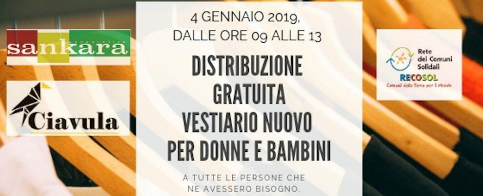 """Venerdì a Caulonia """"Ciavula"""" distribuirà gratuitamente abiti per donne e bambini"""