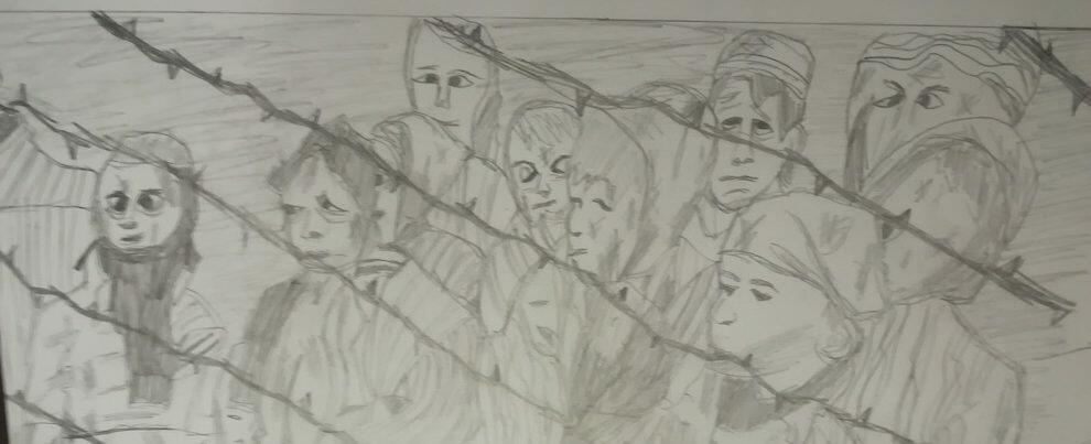 Giornata della memoria: altri disegni degli alunni dell'Istituto Comprensivo Gioiosa-Grotteria