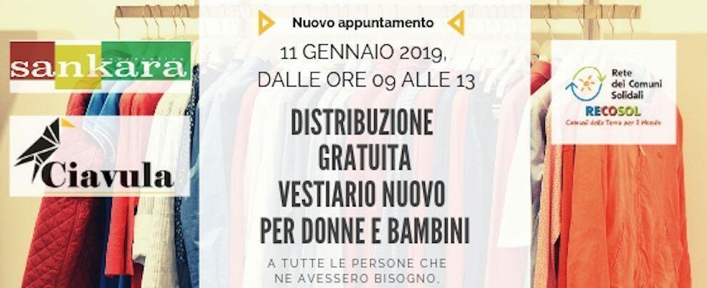 Venerdì nuovo appuntamento a Caulonia con la donazione dei vestiti alle famiglie in difficoltà economica